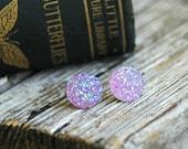 Lavender Druzy Earrings . Druzy Studs . Lavender Bridesmaid . Best Friend Gift . Purple Stud Earrings . Druzy Jewelry . Bridesmaid Gifts
