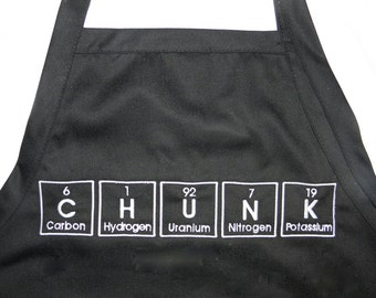 "CHUNK Periodic Table BBQ Apron Embroidery 34"" Ready To Ship"