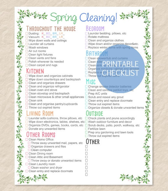 Persnickety image inside printable house cleaning checklist pdf