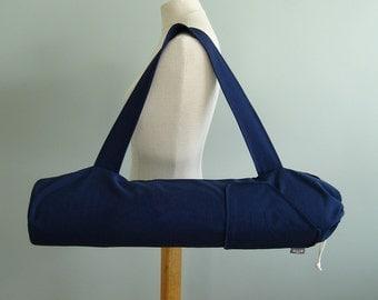 Navy Yoga Mat Bag. Yoga Bag for Men. Yoga Gifts. Yoga Mat Carrier. Canvas Yoga Bag. Yoga Mat Holder. Yoga Mat Tote Bag. Fitness Gifts