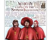 "Spanish Inquisition- Monty Python tribute print- 11""x14"" signed print"