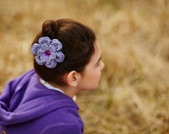 Purple Hair Clip Grape Hair Clip Crochet Flower Hair Clip Crochet Hair Clip Flower Barrette Purple Barrette Purple Flower Spring Hair Clip