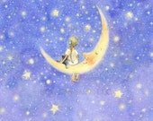 1 Fairy Postcard -  a tiny FairyTreat, Fairy art, a single enchanted postcard