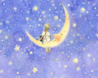 2 Fairy Moonbeam Postcards, A Small Fairy Gift, Thank you, Thinking of You
