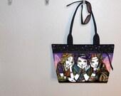 Myka Jelina Tea For Three tote bag, WIDE, book tote, large purse, canvas tote, shoulder bag