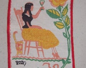 Vintage Tony Sarg Textile Lady Makes a Toast