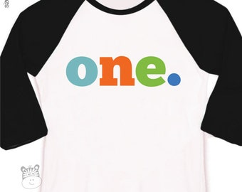 First birthday shirt boy or girl pick your letter colors custom 1st birthday raglan Tshirt