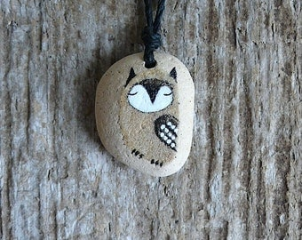 Healing Shard Necklace - Beach Pottery Owl