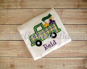 Mardi Gras Truck Appliqued T-shirt for Boys or Girls