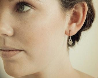 Small Silver Teardrop Leverback Dangle Earrings   Tiny Tear drop Sterling Lever back   Dainty Little Earring   Everyday Lightweight Jewelry