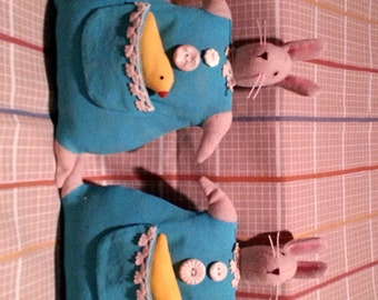 Bunny Hand Painted Easter Rabbit Doll