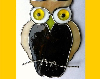 Stained Glass Owl sun catcher