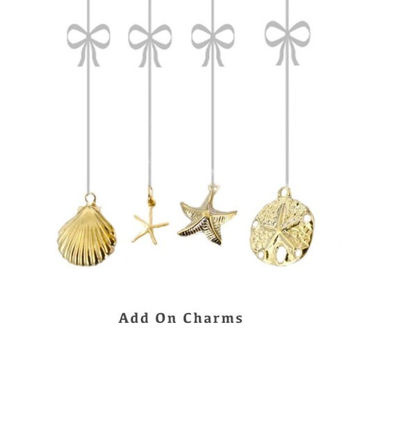 Add On Charm, Add a Charm to a Necklace or a Bracelet in my shop, Sand Dollar Charm, Starfish Charm, Shell Charm, Gold Filled Charms