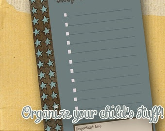 Sleep Over Check List / Form / Child / Boy / Printable