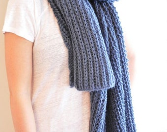 Scarf, Blue Shawl, Wool Scarves, Handknitt Scarf, Valentine's Gift, Christmas Gifts, Winter Scarf