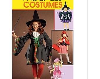 Sew & Make McCall's M5728 Sewing Pattern - Girls Bo Peep Red Riding Hood Fairytale Costumes sz 3-6
