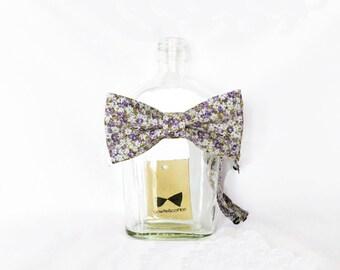 Lilac 03 - Lilac Floral Men's Pre-Tied Bow Tie or Self-Tied Bow Tie