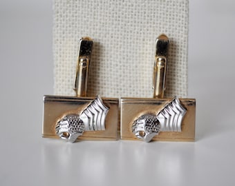 Vintage Knights Gauntlet Glove Cufflinks