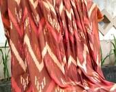 """Gunungan Lancip Red Maroon Ikat - Endek Bali - Handwooven Fabric (100cm x 200cm / 39"""" x 79"""")"""