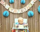 Fabric Birthday Banner multi colored Happy Birthday Party Decoration Family Banner Party Banner Bunting Flags Birthday Decoration
