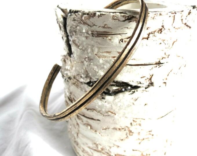 Cuff Bracelet for Man, Rustic Cuff for Guys, Antique Gold Cuff, Oxidized Brass, Handmade Jewelry, Gift Idea