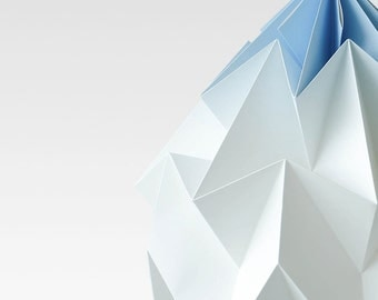 NEW: XL Moth origami lampshade gradient blue