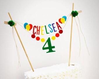 Birthday Cake Banner, Personalized Birthday Cake Banner, Custom Cake Banner, One Cake Banner, Smash Cake Banner: Rainbow