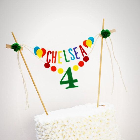Birthday Cake Banner Personalized Birthday Cake Banner
