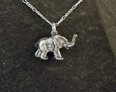 Sterling Silver Elephant Pendant on a Sterling Silver Chain