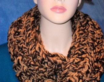Brown Crochet Infinity Scarf, Black Crochet Infinity Scarf, Brown Chunky Infinity Scarf, Black Chunky Infinity Scarf handmade Infinity Scarf