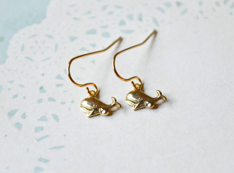 tiny whale earrings whale jewelry nautical earrings