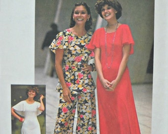 Simplicity 7128 Dress, Top, and Pants Pattern, Size 12, Vintage 1975