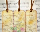 Jerusalem Bookmarks Circa 1883 Gifts, Antiqued Map Bookmark Map Bible Map Enthusiasts Map Lovers