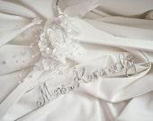 Future Daughter in Law Gift, Floral Personalized Hanger, Non Rust, Non Tarnish Script