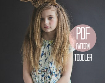 Toddler Dress Pattern PDF Easy Quick Sewing Project Girl Dress Pattern Peter Pan Collar Short Sleeve Dress Sewing Pattern Vintage Style Baby