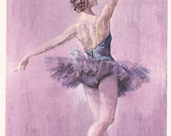 "Vintage Ballet ""Raymonda"" Print - 1963, Artist of the RSFSR"