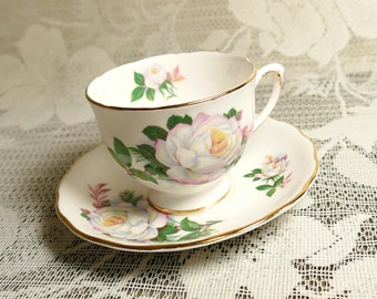 Royal Vale White Rose Cup and Saucer