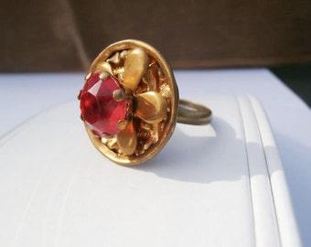 Victorian Button Ring, Vintage Button Ring, Antique Button Ring, 1890s, Rings Vintage, Victorian Ring Edwardian, Art Nouveau, Button Jewelry