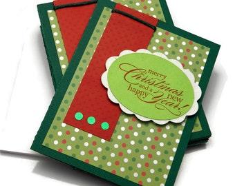 Handmade Christmas Card Set - Christmas Greeting Card Set - Modern Christmas Cards - Stampin' Up Cards