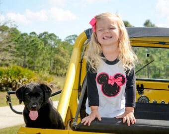 Minnie Mouse Shirt,Mickey Mouse Shirt,Disney World Shirt,Raglan Shirt,Sizes 3 months-Adult 2XL,Baseball shirt,Disneyland shirt,disney cruise
