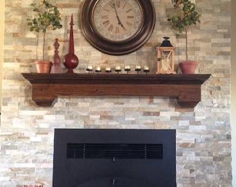 Custom Hand Made Floating wall shelf - fireplace mantel