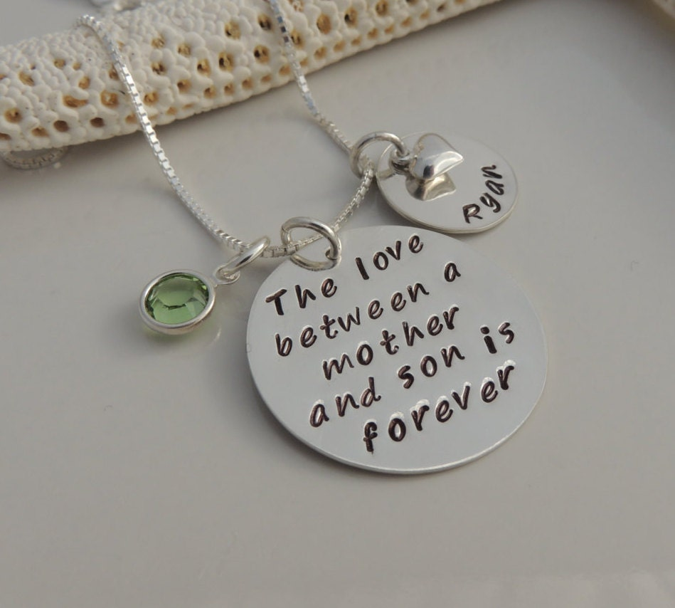 The love between a mother and son / daughter is forever Necklace