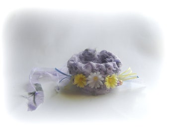 wrap bracelet gypsy purple violet boho bohemian purple handmade bracelet crochet eco friendly prom gift valentine flowers bogo pastel