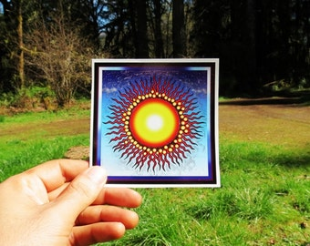 Grateful Dead Sun Square series High Quality Vinyl Sticker