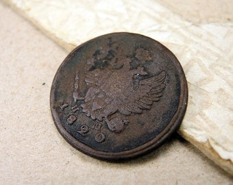 1820 Old Russian Coin Antique Copper Coin - 2 kopeck - c51