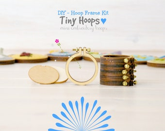 "DIY Tiny Embroidery Hoop Frame Kit - 1.6""/4CM Embroidery Hoop - Miniature Embroidery Hoops - DIY Mini Hoop Kit - Mini Embroidery Hoop Frame"