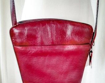 Vintage Genesis by Sabrina Maroon Leather Purse