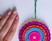 Mandala - Felt Ornament - Purple