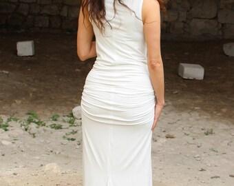 Bridesmaid dress .maxi Wedding Dress. long sleeveless dress. boho wedding dress.white wedding gown.plus size maxi dress.bohemian prom dress.