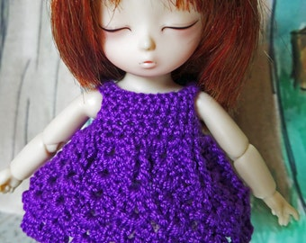 Crochet Nanai dress for AI BJD